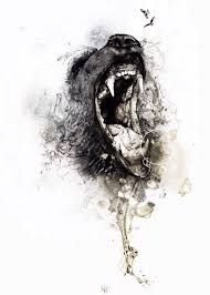 Bildergebnis für tattoo wolf ink splash