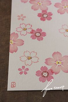 SAKURA BLOSSOMS HAND CARVED STAMP IMAGES