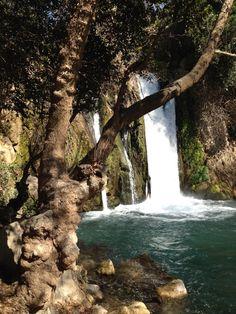 Banias falls in Snir, Israel