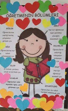 24 kasım öğretmenler günü panoları ile ilgili görsel sonucu Class Bulletin Boards, Classroom Board, Classroom Decor, Love Teacher, Class Teacher, Art Education, Special Education, Art For Kids, Crafts For Kids