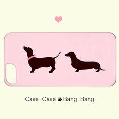 Dachshund Dog Iphone Case - dachshund case - iPhone by CaseCaseBangBang - pink for iPhone 5!  I want!!!  @Remington Taylor