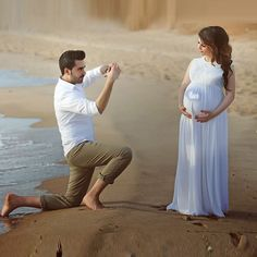 White Chiffon Lace Women Pregnant Maternity Dress Long Bridal Wedding Dressses