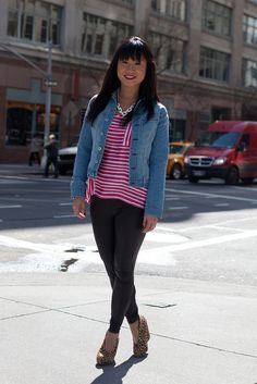 Jean jacket + prints with T.J.'s finds! #maxxstylescout