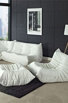 Cozy sofa set!  This would be great for the basement