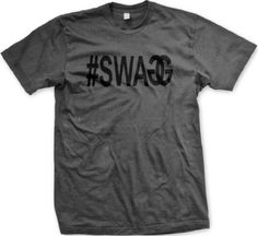 Swagger #Swagg Mens T-shirt, Sexy Hot #Swagg Mens Tee Shirt, X-Large, Charcoal