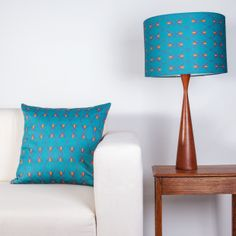 Giant Beetle lampshade & cushion by Clementine & Bloom