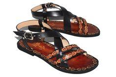 3b8d847247e9e0 Cute Black And Brown Custom Handmade Leather Woman Sandals - Inspiration  Boho Shoes
