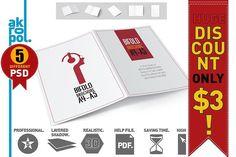 Bifold Brochure Mock Up by akropol on @creativemarket
