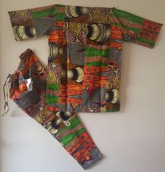 AFRICAN Women's  Patchwork Yaye Fall Pant Set by soumahstore