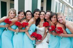 tiffany blue and red wedding