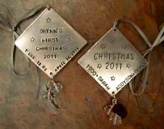 Baby's First Christmas Ornament  by FiredUpLadiesHammer on Etsy, $21.00