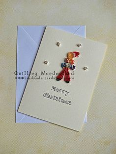 Santa Claus card christmas quilling by QuillingWonderland on Etsy