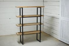 Industrial Wood Bookshelves Reclaimed Wood by sumsouthernsunshine
