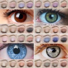 EYE see you!!  Have you wondered which ShadowSense shades would look best with your eye color?  Check out these options and the endless combos and trios yoh could make?  Who doesn't want eye shadow that:  ⭐️ Lasts all day  Doesn't crease ⭐️ Waterproof  Creme to Powder ⭐️ Includes our skin care   Available in matte and shimmer shades ⭐️ 11 ways to use it from concealer to highlight