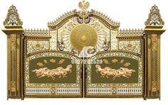 Cổng đúc nhôm với 2 bức phù điêu mã đáo thành công mang ý nghĩa may mắn. #congnhomduc(http://cuacongnhomduc.com/san-pham/cua-cong-nhom-duc-gat-831.html)