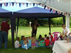 Tea Party, Mad Hatters Tea Party, Story Telling, Children at the Dorothy Clive Garden in Staffordshire