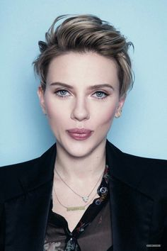 Image result for scarlett johansson short hair 2017