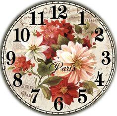 Циферблат. Clock Craft, Diy Clock, Clock Face Printable, Unusual Clocks, Decoupage Printables, Christmas Snow Globes, Decoupage Vintage, Wood Clocks, China Painting