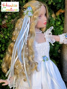 Visit my safe web page to see nineteen spring and summer fashions for Ellowyne Wilde, all designed by Marsha of Hankie Couture.  Click on the image. ♡ Doll face repainting by Nancy Lee Moran