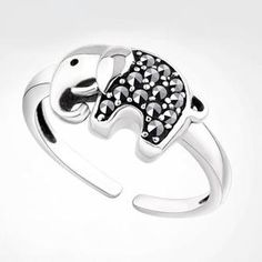 Material: 925 Silver + Rhinestone Color:As picture Size: Free size 925 sterling silver, inlaid with rhinestone.lucky elephant rhinestone animal ring,good gift to send to friends. Elephants are wisdom, a symbol of wealth. Diy Rings, Cute Rings, Unique Rings, Jewelry Rings, Gold Jewelry, Diamond Jewelry, Jewellery, Tiffany Jewelry, Ring Ring