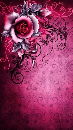 Wallpaper Pattern, really like this. Gothic Wallpaper, Flowery Wallpaper, Rose Wallpaper, Pattern Wallpaper, Iphone 5 Wallpaper, Cellphone Wallpaper, Wallpaper Backgrounds, Wallpapers Android, Wallpaper Ideas