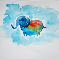 Baby elephant #aquarela