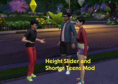 Mod The Sims: Height Slider and Shorter Teens Mod v1.2 by simmythesim • Sims 4 Downloads