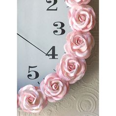 pink flower clock for baby girl's room!! Could totally DIY this