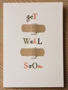 Handmade Cards For Impromptu Occasions It's the Flu & Cold time of year. Cheer someone up & make them this super easy get well card!It's the Flu & Cold time of year. Cheer someone up & make them this super easy get well card! Cute Cards, Diy Cards, Tarjetas Diy, Karten Diy, Get Well Soon, Get Well Cards, Paper Cards, Creative Cards, Scrapbook Cards