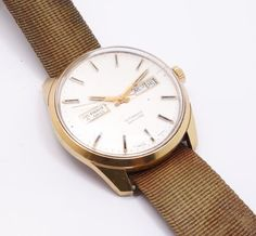 Vintage-Tissot-Automatic-Seastar-Day-Date-Wristwatch-Watch-for-Restoration-Swiss