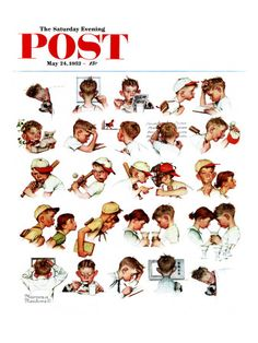"""""""Day in the Life of a Boy"""" Saturday Evening Post Cover, May 24,1952"""