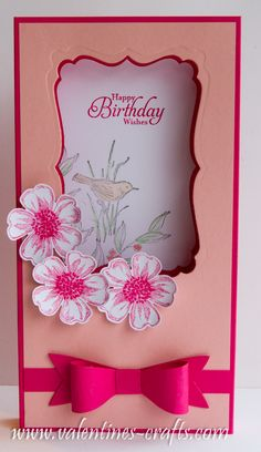 Stampin up shadow box card simply sketched & flower shop