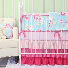Pink+Penelope+Baby+Girl+Bedding+Set+by+CadenLaneBabyBedding,+$172.00