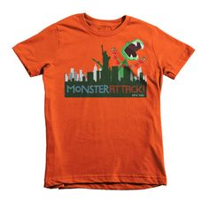 New York Attacked by Dino the Dinosaur...with Hearts! - Short sleeve kids t-shirt