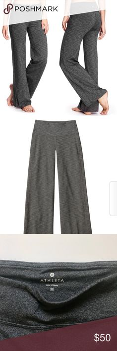 ATHLETA charcoal gray flare pants leggings Perfect mint condition, athleta flare yoga pants - good for working out or athleisure. :) see my other similar listings! Inseam 29.5 Waist 30 Rise 10 [Fits like a lululemon size 8] Athleta Pants Boot Cut & Flare