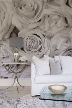 floral murals are among the most popular because they easily bring a sweet feminine touch