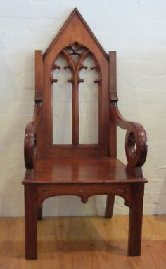 Lovely Gothic Chair Gothic Interior, Gothic Home Decor, Interior Design, Antique Furniture, Furniture Ideas, Home Furniture, Sofa Bench, Sofa Chair, Gothic Chair