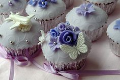 color misted cupcakes - Google Search