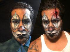 Special effects makeup of cholo  clown, before and after gunshot.  Makeup artist: Elvia Olivarria Torres AKA Vita Loca.