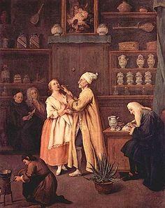 Il farmacista, 1752 ca., Pietro Longhi