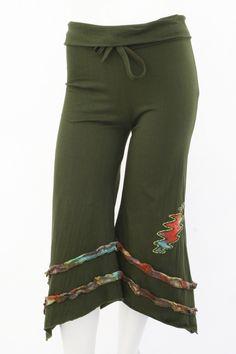 Jayli Imports, Inc. Store - Cotton Fold Waist Capri pants with Tie Dye Bolt and Ruffle, $44.00 (http://www.jayli.com/cotton-fold-waist-capri-pants-with-tie-dye-bolt-and-ruffle/)