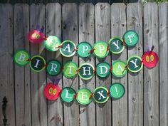The Very Hungry Caterpillar Birthday Banner. $24.00, via Etsy.