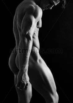 Fantasy black and white photos nude male something