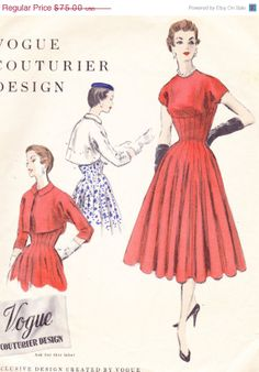On Sale 1950s Vintage Womens Sewing Pattern by Sutlerssundries, $37.50