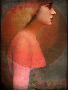 'Portrait05' by by German-born, Malaysia-based artist & graphic designer Catrin Welz-Stein. Digital image. Let's talk technique. via RedBubble