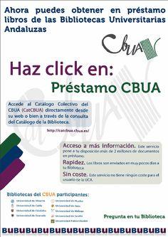 Difusión del servicio de Préstamo CBUA (Consorcio de Bibliotecas Universitarias de Andalucía)