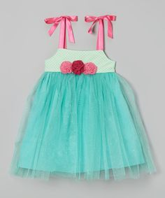 Look at this Victoria Kids Gumdrop Green Sparkle Tulle Dress - Infant & Toddler on #zulily today!
