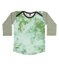 Awesome jade tie dye body with green and white micro stripe long sleeves and navy blue envelope neck trim. This garment is part of Oishi Baby Boy Outfits, Kids Outfits, Blue Envelopes, Winter Sale, Baby Kids Clothes, Long Shorts, Kids Wear, Boy Fashion, Cool Kids