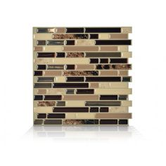 Smart Tiles 10 In X Bellagio Mosaik L And Stick Decorative Wall Tile Brown At The Home Depot