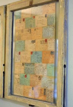 Lots of Creative Decor ideas - decorating with recipes (Frame old family recipes).